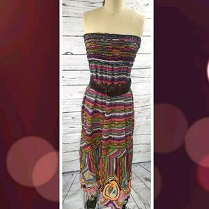 Sleeveless colprful abstract dress